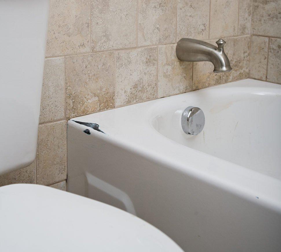 Bathtub damage repairs