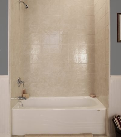 Bath Shower Combo New Installation Simulated tile Sherwood OR